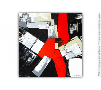 Peinture abstraite noire : Doux délire