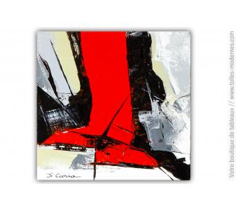 Tableau contemporain noir : Sensations fortes