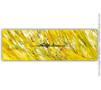 Tableau moderne jaune : Village de campagne