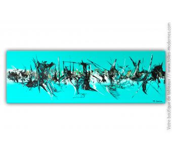 Tableau moderne bleu : Bora Bora