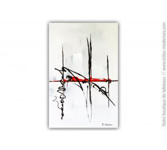 Peinture abstraite grise: Flânerie