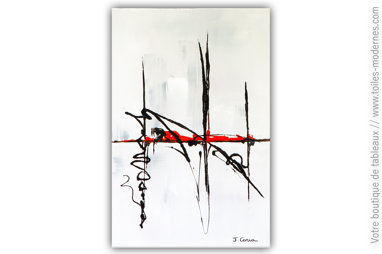 Ambiance Et Style Tableau tableau abstrait gris : flânerie