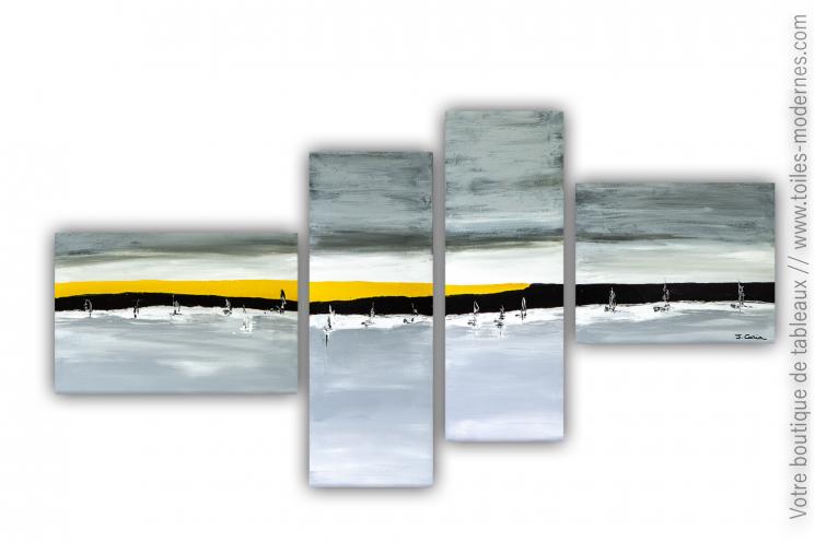 Tableau très grandes dimensions pour déco grandiose : Promenade en mer