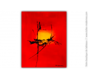 Tableau rouge minimaliste : Puissance
