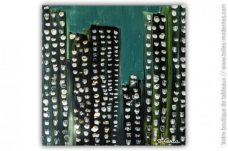 Déco urbaine avec une peinture design : Ville