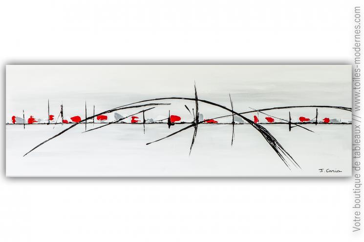 Grande toile blanche moderne: Les chemins de la liberté