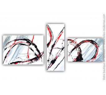 Tableau gris en plusieurs panneaux : Fougue