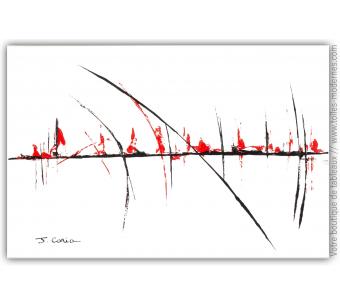 Tableau abstrait blanc : Douceur