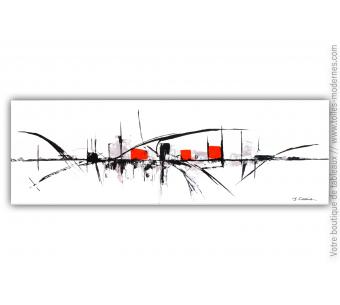 Tableau ville blanc contemporain : Ville nouvelle