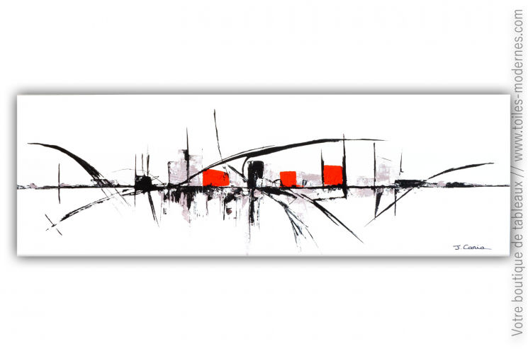 Tableau ville blanc moderne design : Ville nouvelle
