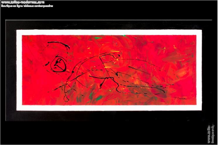Tableau LADY (tableau rouge) moderne