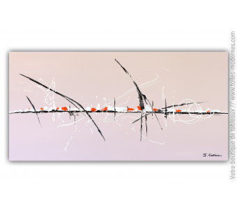 Déco taupe avec un tableau taupe contemporain design : Un endroit tranquille