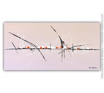 Tableau taupe abstrait : Un endroit tranquille