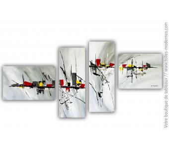 Décoration murale gris et blanc format XXL : Un pas si loin
