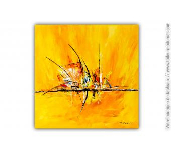 Tableau toile jaune : Une journée magique