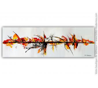 Objet déco taupe avec un tableau contemporain : Une vie merveilleuse