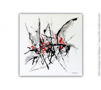 Tableau blanc XXL contemporain : Dernière pensée
