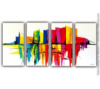 Tableau XXL multi-toiles colorées : Un conte merveilleux