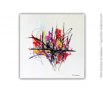 Tableau carré d'artiste XXL : Une imagination extravagante