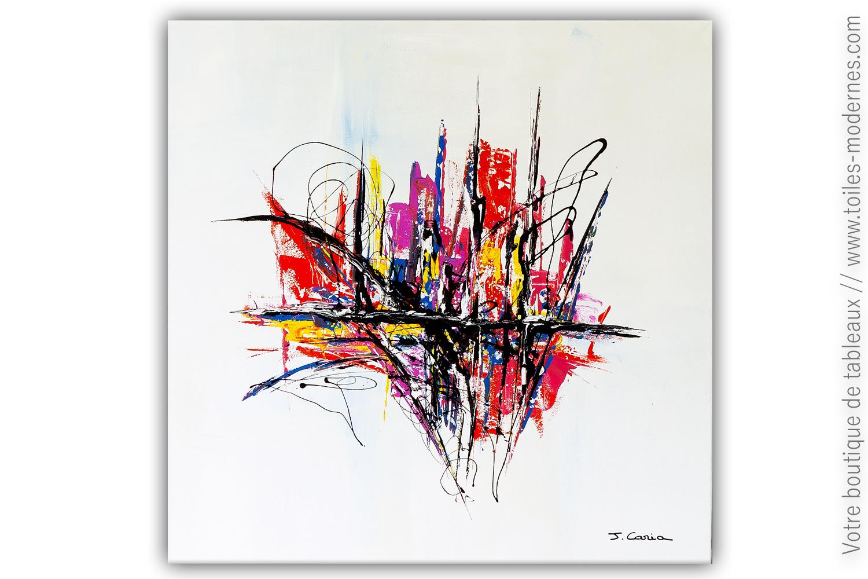 Prix D Un Tableau D Artiste tableau carré d'artiste xxl : une imagination extravagante