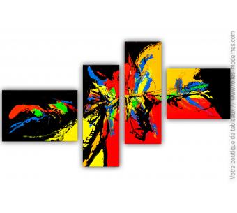 Déco colorée avec un polyptyque multicolore : Emerveillement