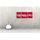 Tableau FLASH (triptyque rouge) moderne