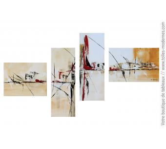 Déco marron et beige avec un tableau polytyque : Amosphère fantastique
