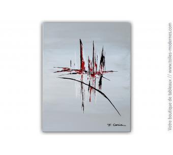 Peinture dégradé de gris : Rêve mélodieux
