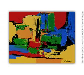 Peinture colorée au couteau : Au pays enchanté