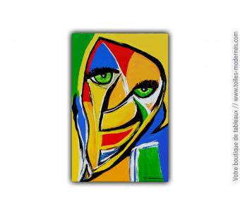 Objet déco moderne colorée avec le tableau : Une soeur pas comme les autres