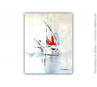 Peinture grise minimaliste : Le mystère de la vie