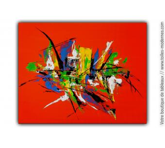 Déco murale moderne avec un tableau coloré : Au bout du monde