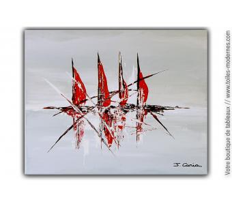 Intérieur chic bord de mer avec la toile moderne : L'appel du large