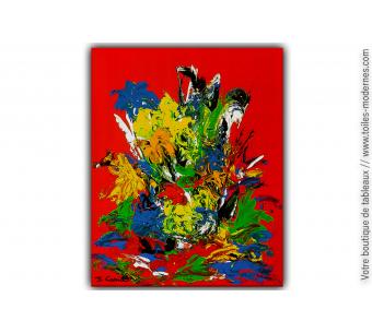 Peinture fleurs abstraite : Quand la vie devient colorée