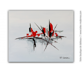 Peinture abstraite au couteau : Invocation à la poésie