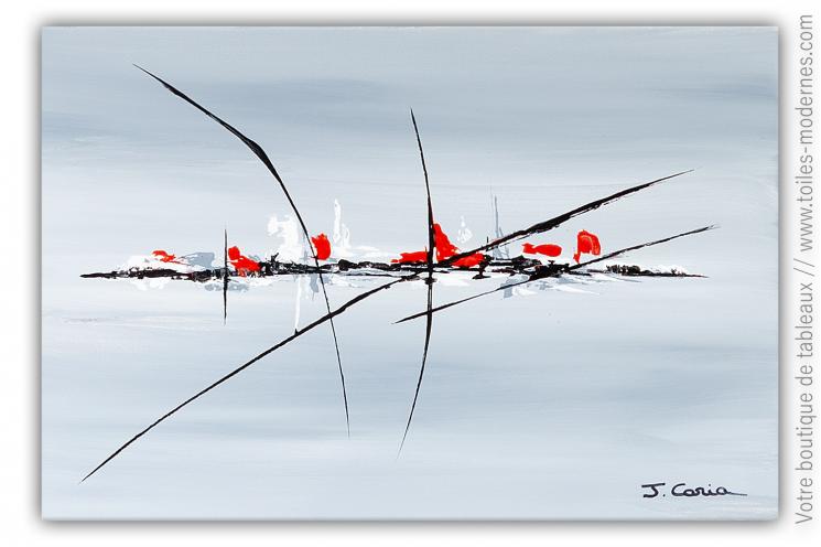 Peinture épurée grise d'art minimaliste : Regard