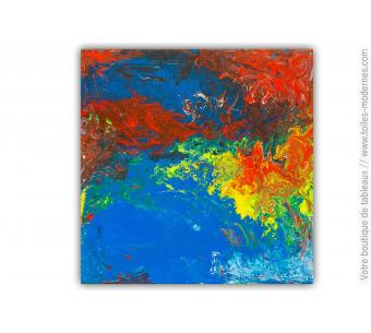 Tableau abstrait coloré : Ananke