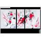 Tableau LES BATTANTS (triptyque rouge et noir) moderne