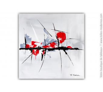 Galerie toulousaine tableau gris moderne : Un doux moment de poésie