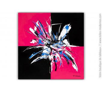 Tableau rose et noir moderne : Clair-obscur