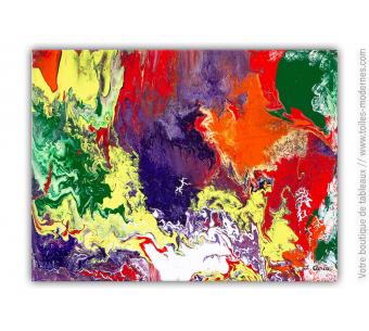 Peinture colorée moderne : Elena