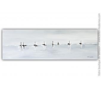 Grande marine sur toile : Navigation artistique