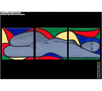 Tableau TEMPTATION (triptyque coloré) moderne