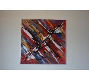 Peinture électrique colorée : Le rêve du peintre