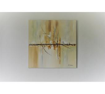 Tableau marron abstrait : Une vie plus douce