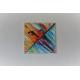 Accessoire déco colorée, tableau conemporain : Le long des quais