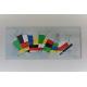 Tableau coloré  XXL abstrait géométrique : L'espace tout en couleur