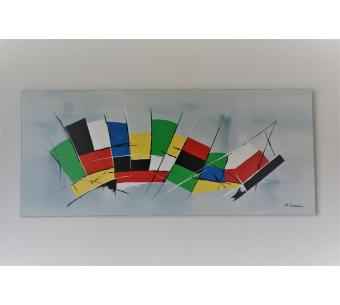 Tableau XXL contemporain : L'espace tout en couleur