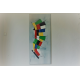 Tableau XXL coloré en format vertical  : L'espace tout en couleur