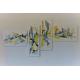 Déco blanche lumineuse avec un grand tableau moderne : Insouciance